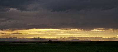 Art Print featuring the photograph Passing Storm Clouds by Monte Stevens