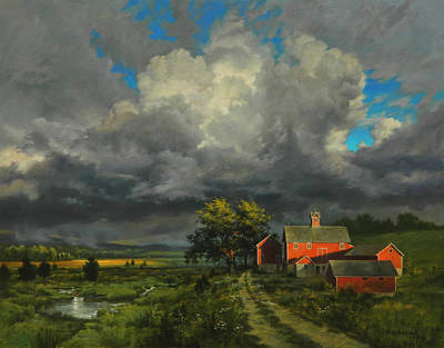 Passing Storm Original by David Henderson