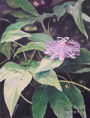 Passion Flower Art Print by Carla Dabney