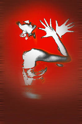 Celebration Digital Art - Passion In Red by Naxart Studio