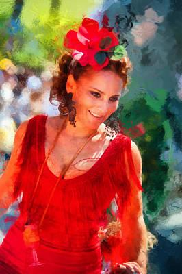 Impressionism Photos - Passionate Gypsy Blood. Flamenco Dance by Jenny Rainbow