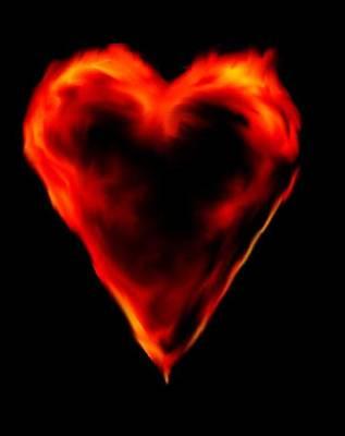 Passionate Heart Art Print
