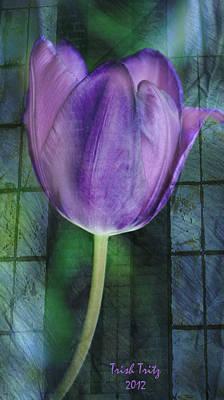 Passionate Purple Print by Trish Tritz