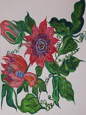 Passionflower Painting - Passyflor by Joy Sparks