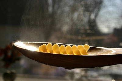 Photograph - Pasta Shape In Wooden Spoon by Emanuel Tanjala