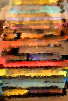 Digital Art - Pastel Abstract by Geoff Strehlow