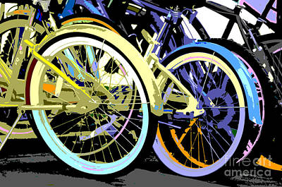 Artyzen Kids Mixed Media - Pastel Bicycle Pop Art by ArtyZen Studios
