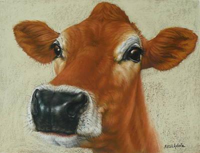 Pastel Cow Art Print by Margaret Stockdale
