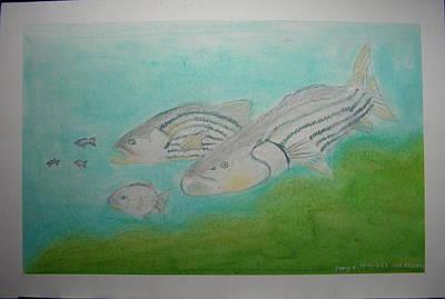 Pastel Fish Art Print by Maya M