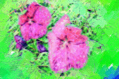 Royalty-Free and Rights-Managed Images - Pastel Flowers by Paul Bartoszek