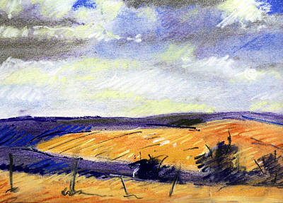 Pastel Landscape Art Print by Jon Shepodd