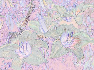 Pastel Lillies Art Print
