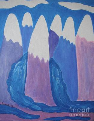 Pastel Mountain Overflow Original by Jeannie Atwater Jordan Allen
