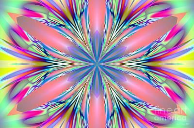 Digital Art - Pastel Pink Kaleidoscope by Maria Urso