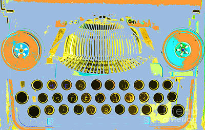 Anahi Decanio Mixed Media - Pastel Pop Typewriter Art by ArtyZen Studios