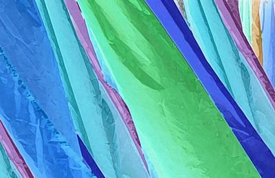 Art Print featuring the photograph Pastel Silks by Deborah Smith