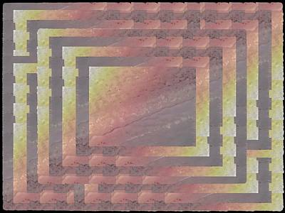 Digital Art - Pastel Topographic 5 by Tim Allen