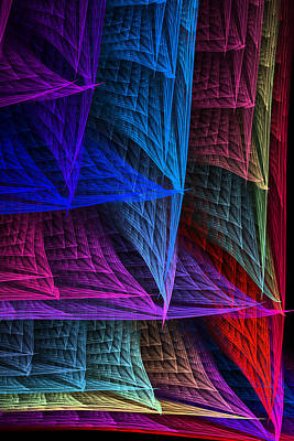 Digital Art - Pastel Weave by Rick Chapman