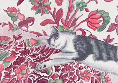 Catnap Painting - Pasticcio by Acqu Art