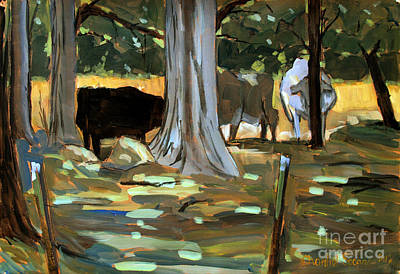 Heat Wave Painting - Pastoral Homily by Charlie Spear