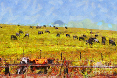 Pastoral Landscape Painterly . 7d15962 Art Print