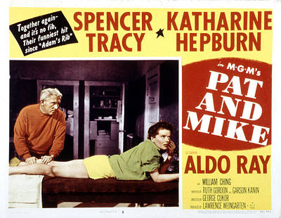 Pat And Mike, Spencer Tracy, Katharine Art Print by Everett
