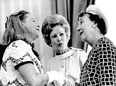 Pat Nixon, Introduces Martha Mitchell Art Print by Everett