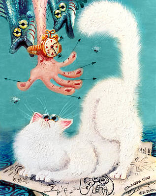 Satirical Painting - Pat That Cat by Baron Dixon