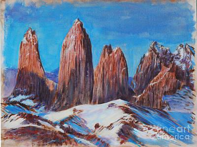 Painting - Patagonia Peaks by LeRoy Jesfield