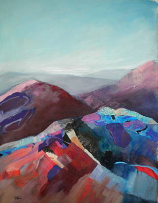 Painting - Patchwork Mountain by Sally Bullers