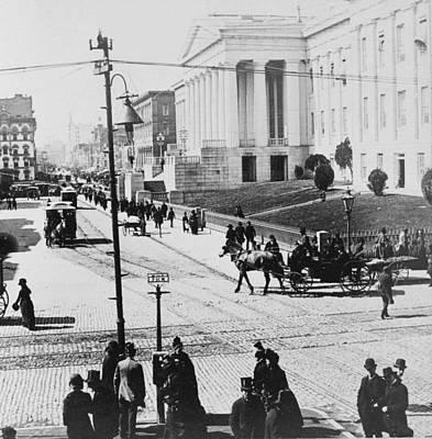 Washington Dc Street Scene Photograph - Patent Office During Presidential Inauguration - Washington Dc - C 1889 by International  Images