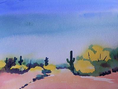Path In The Desert Art Print