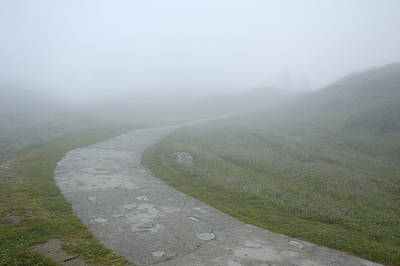 Ambiguous Photograph - Path In The Fog by Matthias Hauser