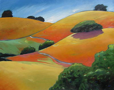 Warm Colors Painting - Path Running Through by Gary Coleman