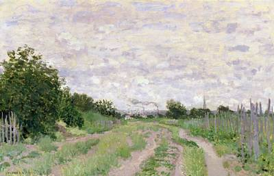 Railing Painting - Path Through The Vines At Argenteuil by Claude Monet