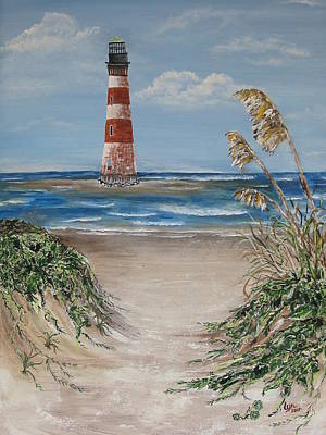 Art Print featuring the painting Pathway To Morris Island by Lyn Calahorrano