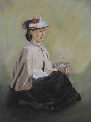 Painting - Patiently Waiting by Joyce Reid