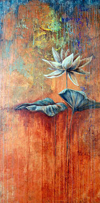 Painting - Patina Lotus by Ashley Kujan