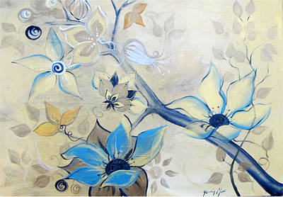 Yasmin Modi Painting - Patina by Yasmin  Modi
