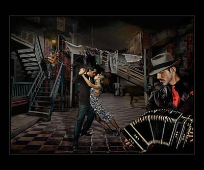 Bandoneon Wall Art - Photograph - Patio De Tango by Raul Villalba