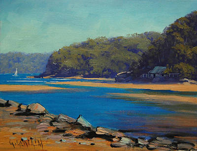 Surf Painting - Patongs Creek Australia by Graham Gercken