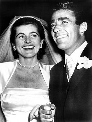 Patricia Kennedy Lawford And Husband Art Print by Everett