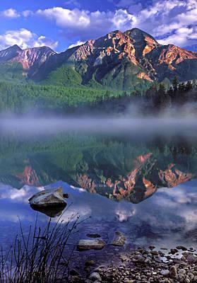 Patricia Lake Banff Canada Art Print by Dave Mills