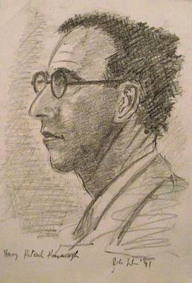 Faces Drawing - Patrick Kavanagh by John  Nolan
