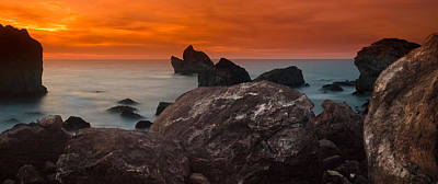 Patrick's Point Dusk Panorama Art Print by Greg Nyquist