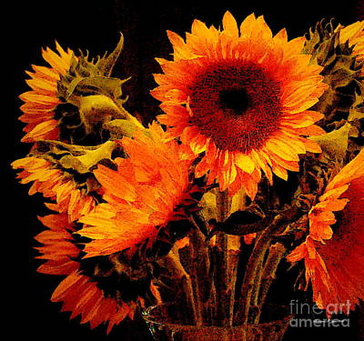 Photograph - Patriot Day 2011 Sunflowers - A Remembrance Day Paintograph by Christine S Zipps