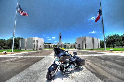 Photograph - Patriot Guard Rider At The Houston National Cemetery by David Morefield
