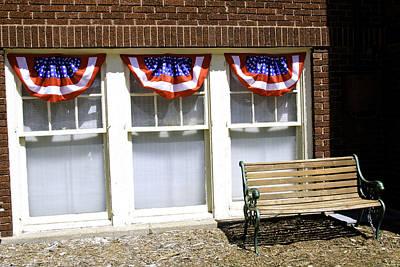 Stars Photograph - Patriotic 4th Of July Bench by LeeAnn McLaneGoetz McLaneGoetzStudioLLCcom