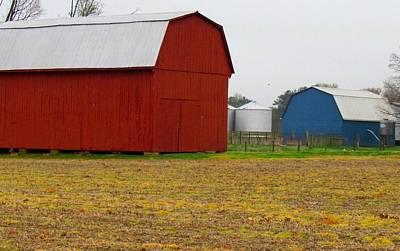 Patriotic Amish Barns Original by Trish Clark