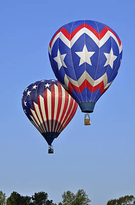 Photograph - Patriotic Balloons by Helen Haw